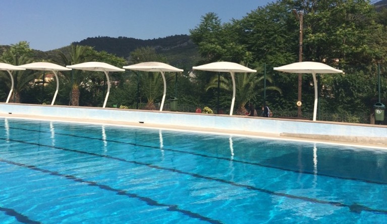 Triathlon training outdoor pool Amelie-les-Bains Sancture Sportifs