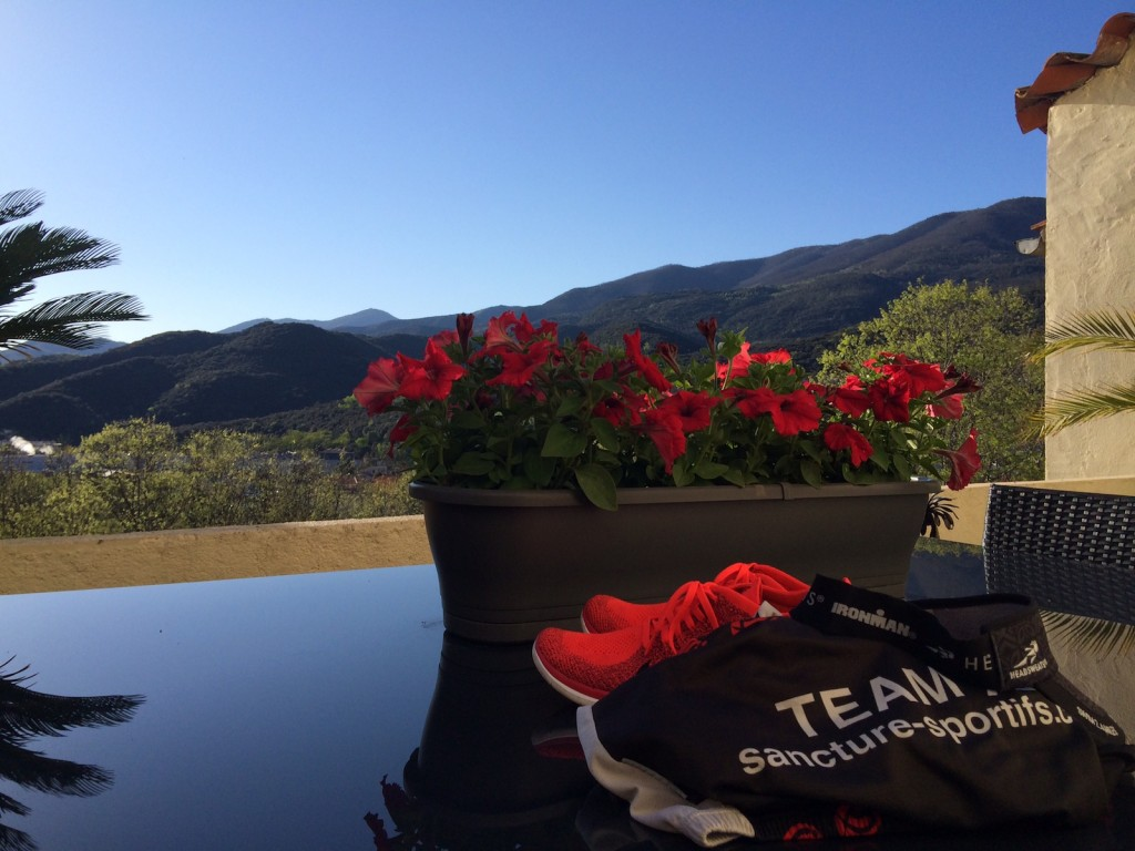 Warm weather triathlon training in the foothills of the French Pyrenees
