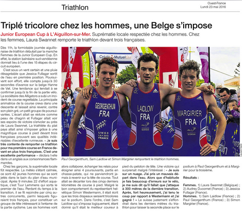 Sam Laidlow Winner Junior European Cup Ouest-France Article Sancture