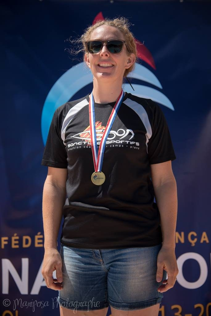 Chantal Sancture Athlete Canet Bronze Medal
